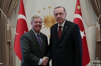 Republican senator Graham holds Syria talks with Turkey's Erdogan