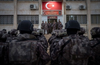 Turkey, rebels turn schools into military bases in occupied northern Syria's Afrin